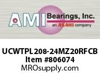 AMI UCWTPL208-24MZ20RFCB 1-1/2 KANIGEN SET SCREW RF BLACK TA 2 OPEN COVERS SINGLE ROW BALL BEARING