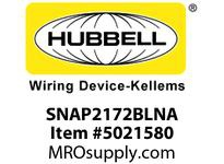 HBL_WDK SNAP2172BLNA SNAP2CONNECT2 DECO HG 15A/125V US BL