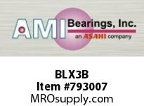 AMI BLX3B 17MM NARROW SET SCREW BLACK 2-BOLT BEARING