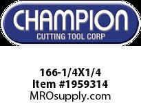 Champion 166-1/4X1/4 4 FL SE SOLID CARB END MILL