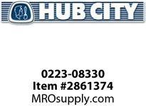 HUB CITY 0223-08330 520 GEAR WORM 10/1 (COMPOS-SLV) Service Part