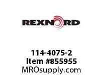 REXNORD 114-4075-2 CT U47R5 90DEG INSIDE CORNER TRACK U47R5 90 DEGREES INSID