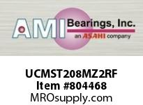 AMI UCMST208MZ2RF 40MM ZINC SET SCREW RF STAINLESS WI TAKE-UP SINGLE ROW BALL BEARING