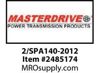 MasterDrive 2/SPA140-2012 2 GROOVE SPA SHEAVE