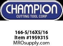 Champion 166-5/16X5/16 4 FL SE SOLID CARB END MILL