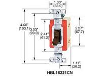 HBL-WDK HBL18201LCN SP TOG IND GRD 15A 347V LOCK