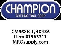 Champion CM95XB-1/4X4X6 SDS+HAMMER BIT 4 CUTTER 4 FLUTE