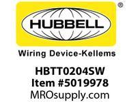 HBL_WDK HBTT0204SW WBPRFRM RADI T 2Hx4W PREGALVSTLWLL