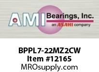 AMI BPPL7-22MZ2CW 1-3/8 ZINC NARROW SET SCREW WHITE P