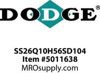 "DODGE SS26Q10H56SD104 SS TIGEAR-2 REDUCER W/1-1/4"" OUTPUT BORE GEAR PRODUCTS"