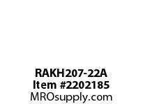 PTI RAKH207-22A PILLOW BLOCK BEARING-1-3/8 RAKH 200 SILVER SERIES - NORMAL DUT