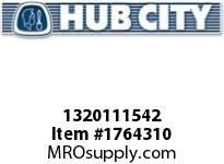 HubCity 1320111542 B350RWX1-7/16 Bearing Insert