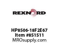 REXNORD HP8506-18F2E67 HP8506-18 F2 T67P N.75