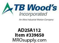 TBWOODS AD25A112 HUB AD25-1.500 DIA 3/8 KW