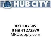 HubCity 0270-02505 GW7004 150/1 DOUBLE OUT WR 182TC