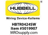HBL_WDK HBTR0424SW WBPRFRM RADI 90 4Hx24W PREGALVSTLWLL