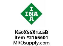 INA K50X55X13.5B Needle roller cage assembly