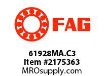 FAG 61928MA.C3 RADIAL DEEP GROOVE BALL BEARINGS