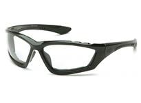 Pyramex SB8710DTP Black Padded Frame/Clear Anti-Fog Lens