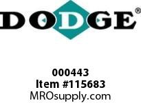 DODGE 000443 24KCP X 2-3/8^ FLUID CPLG-4040