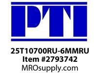 PTI 25T10700RU-6MMRU RUBBER COVERED TIMING BELT BE-BERVINA