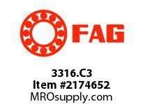 FAG 3316.C3 DOUBLE ROW ANGULAR CONTACT BALL BRE