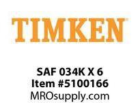 TIMKEN SAF 034K X 6 SRB Pillow Block Housing Only