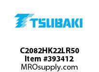 US Tsubaki C2082HK22LR50 C2082H RIV 2L/K-2 50 FT