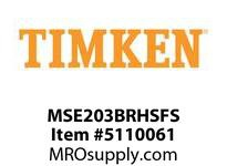 TIMKEN MSE203BRHSFS Split CRB Housed Unit Assembly