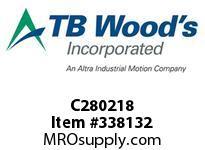 TBWOODS C280218 C280X2 1/8 C JAW HUB