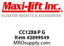 Maxi-Lift CC12X8 P G CC-MAX STANDARD POLYETHYLENE ELEVATOR BUCKET