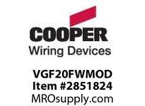 CPR-WDK VGF20FWMOD GFCI Duplex 20A 125V MOD WH NAFTA