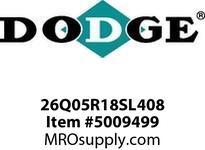 "DODGE 26Q05R18SL408 26 TIGEAR 2 REDUCER - SPEC O/P V = 4.50"" GEAR PRODUCTS"