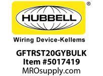 HBL_WDK GFTRST20GYBULK 20A COM SELF TEST TR GFR GRAY BULK
