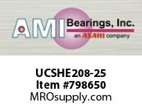 AMI UCSHE208-25 1-9/16 WIDE SET SCREW TAPPED BASE P SINGLE ROW BALL BEARING