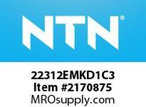 NTN 22312EMKD1C3 SPHERICAL ROLLER BRG