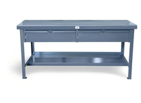 StrongHold T4830-2DB Industrial Shop Table with 2 Drawers 48x30x34 1 Shelve