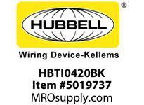 HBL_WDK HBTI0420BK WBPREFORM RADI INTER 4^Hx20^W BLACK