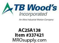 TBWOODS AC25A138 HUB AC25-1.375 DIA NO KW