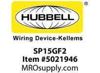 HBL_WDK SP15GF2 2 SEAT PWR BOX GFCI 10FT PLUG