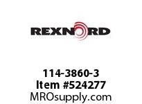 REXNORD 114-3860-3 KU820-18T 1^ KW2SS NYL 142614