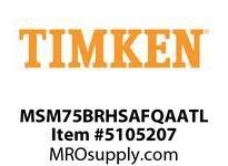 TIMKEN MSM75BRHSAFQAATL Split CRB Housed Unit Assembly