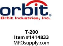 Orbit T-200 TYPE T THREADED CONDUIT BODY 2^