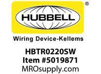HBL_WDK HBTR0220SW WBPRFRM RADI 90 2Hx20W PREGALVSTLWLL