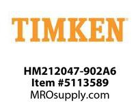 TIMKEN HM212047-902A6 TRB Two-Single-Row Assembly 4-8 OD