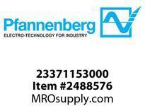Pfannenberg 23371153000 PA X 20-10 115 AC YE 10 Joules Flashing Strobe Beacon with 80 Tone 4-stage Sounder 120 dB (A)