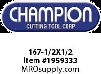 Champion 167-1/2X1/2 4 FL DE SOLID CARBIDE END MILL