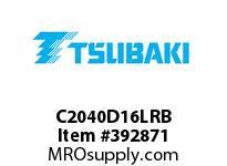 US Tsubaki C2040D16LRB C2040 RIV 6L/D-1