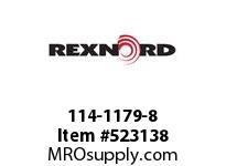REXNORD 114-1179-8 KU5996-9T 2-1/2^ SQ UHMWP 141661