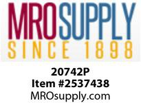 MRO 20742P 1/4 PLSTC STEM X P-IN ELBOW